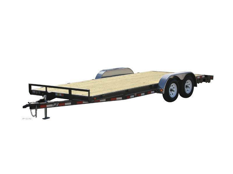 2018 PJ Trailers C5 20' Car Hauler with Diamond Plate REMOVABLE Fenders