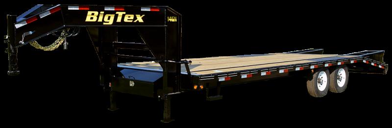 2017 Big Tex 14GN - 20' wood deck + 5' Mega Ramps Gooseneck Trailer