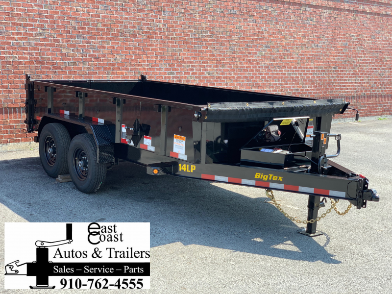 Big Tex 14LP (7' X 14') Low Profile Dump Trailer with 14K GVWR