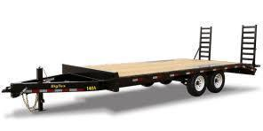 2019 Big Tex Trailers 14OA-20' Flat Deck with 3' Dove Tail Equipment Trailer