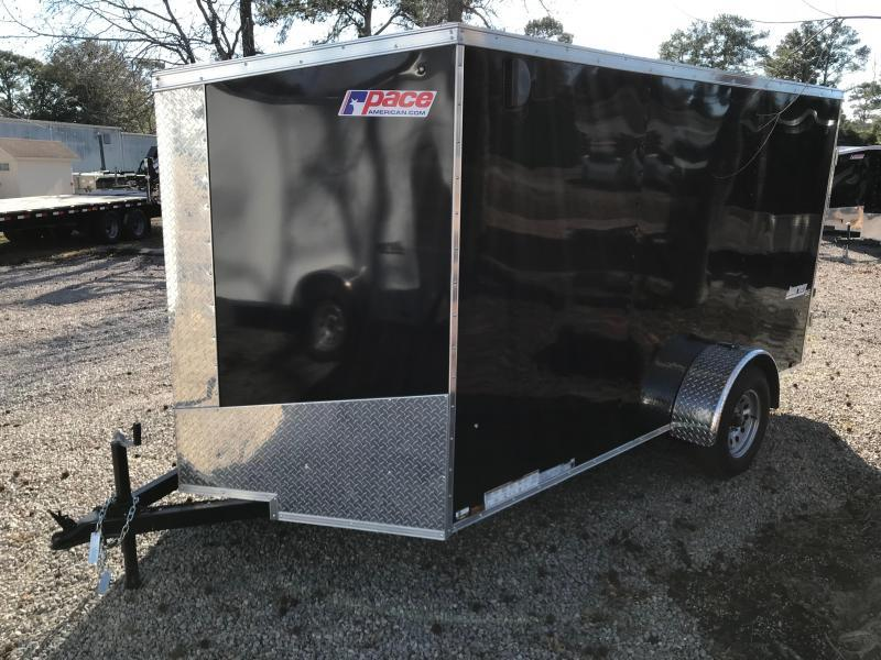 2018 Pace American Journey 6 X 12  Single Axle Special Edition with .030 SKIN and BARN DOORS
