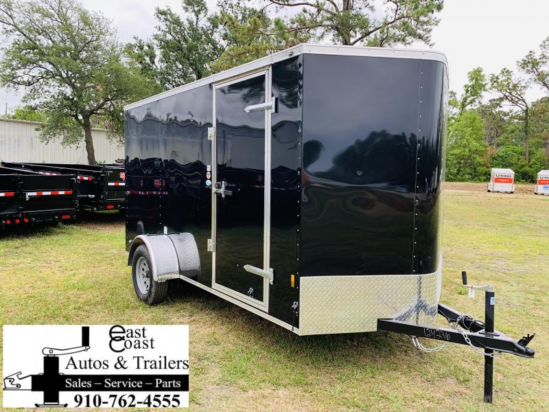 2019 Forest River 6x12 Black Enclosed Cargo Trailer