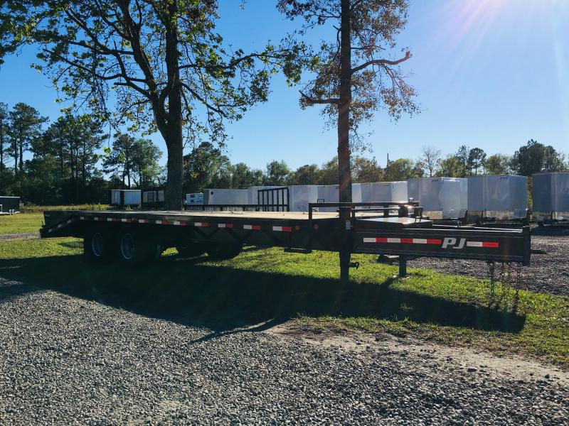 PJ Trailers PD252 (20' flat deck with 5' dove tail) Flatbed Trailer with 25K GVWR