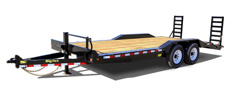 2017 Big Tex 14DF - 18' HD Equipment Trailer with Drive Over Fenders