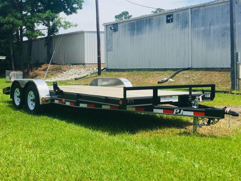 2018 PJ Trailers C5 18' Car Hauler with Diamond Plate REMOVABLE Fenders