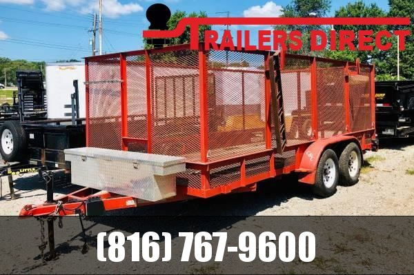 2011 C and C Trailers 77 x 16 Utility Trailer