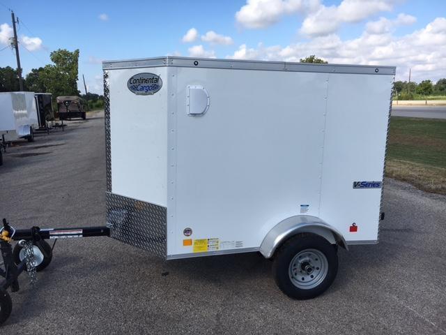 2018 Continental  4 x 6 Enclosed Cargo Trailer