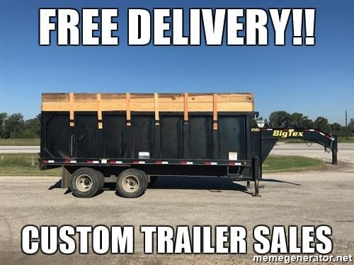 2013 Big Tex  8 x 18 GN Dump Trailer