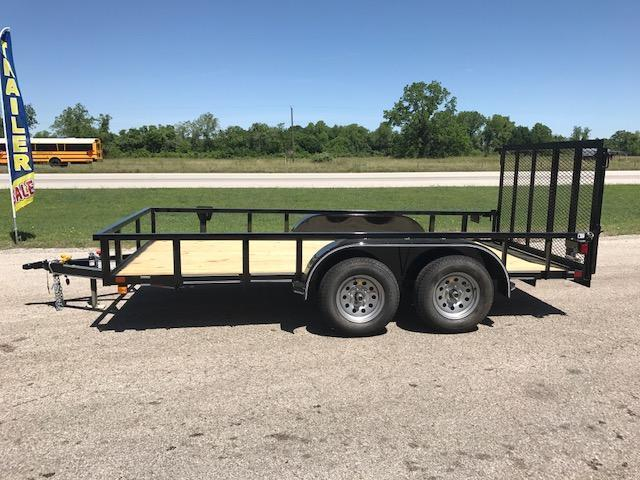 2018 Custom Trailer Sales 77 x 14 double axle Utility Trailer