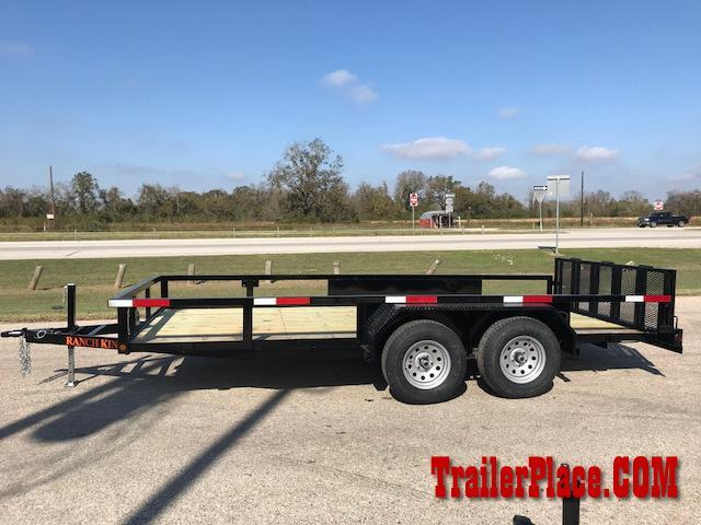 2018 Ranch King 82 x 16 Utility Trailer