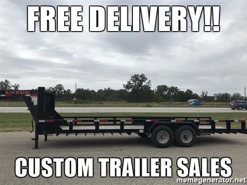 2015 Custom Trailer Sales 83 x 24 Car / Equipment Trailer