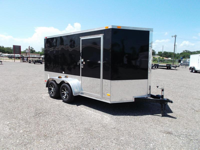 2015 Covered Wagon Trailers 7x12 Tandem Axle Motorcycle Trailer