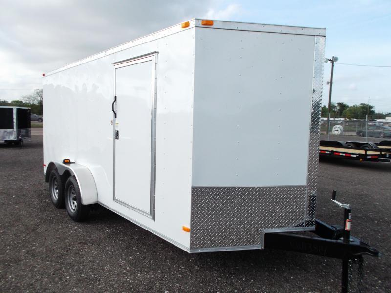 2015 Covered Wagon Trailers 7x16 Tandem Axle Cargo / Enclosed Trailer