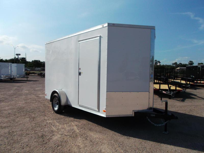 2017 Covered Wagon Cargo Trailer 7x12 Single Axle Cargo / Enclosed Trailer w/ Ramp Gate & 7ft Interior