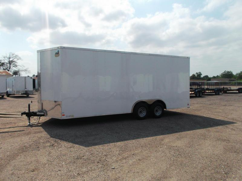"""2019 Covered Wagon Trailers 8.5x20 Tandem Axle Cargo / Enclosed Trailer / 7'6"""" Interior Height / Ramp / 5200# Axles / LEDs"""