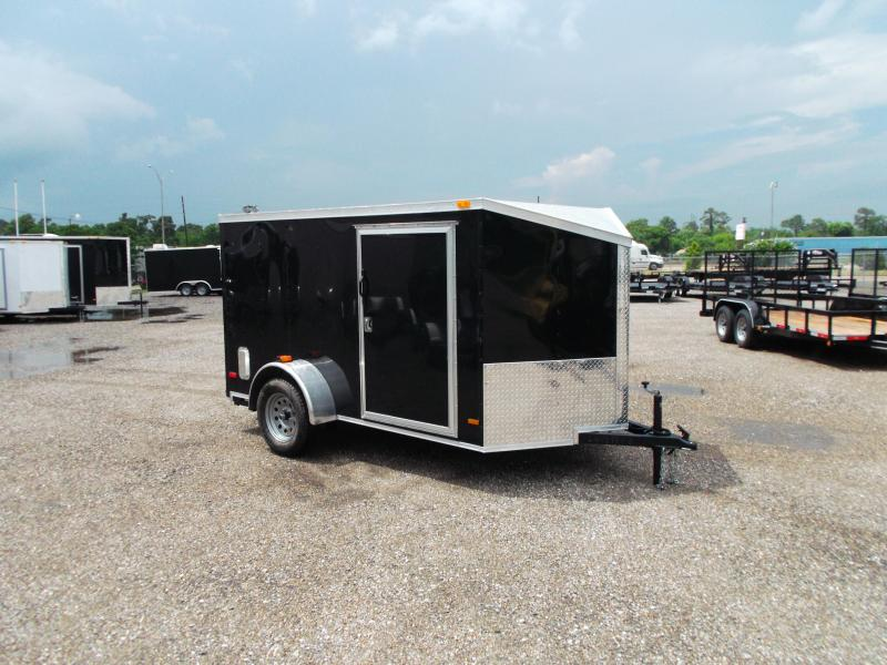 2015 Covered Wagon Trailers 6x10 Single Axle Low Profile Cargo / Enclosed Trailer