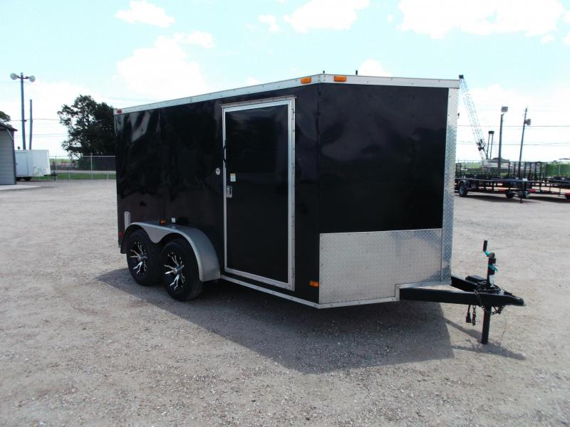 2014 Covered Wagon Trailers 7x12 Semi Low Hauler Motorcycle Trailer
