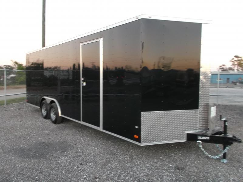 SPECIAL - 2020 Covered Wagon Cargo 8.5x24 Tandem Axle Cargo / Enclosed Trailer / 7ft Interior / 5200# Axles / Ramp / LEDs