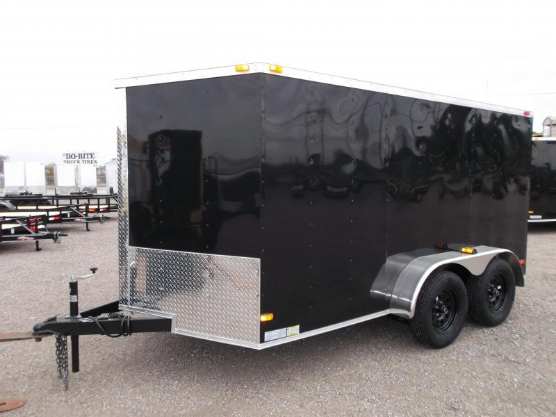 2017 Covered Wagon Trailers 7x12 Semi Low Hauler Motorcycle Trailer