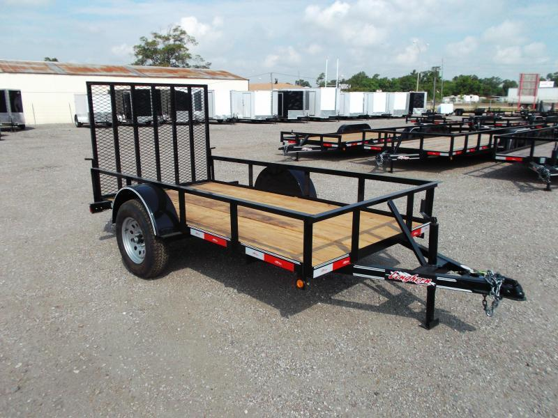 2016 Longhorn Trailers 5x10 Utility Trailer w/ 4ft Heavy Duty Ramp Gate