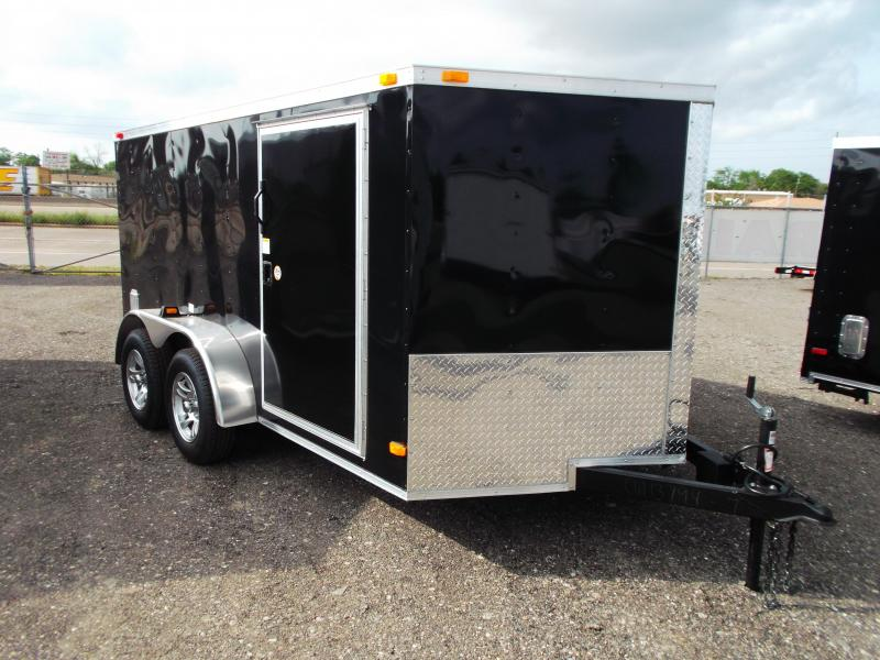 2014 Covered Wagon Trailers 7x12 Tandem Axle Low Profile Motorcycle Trailer