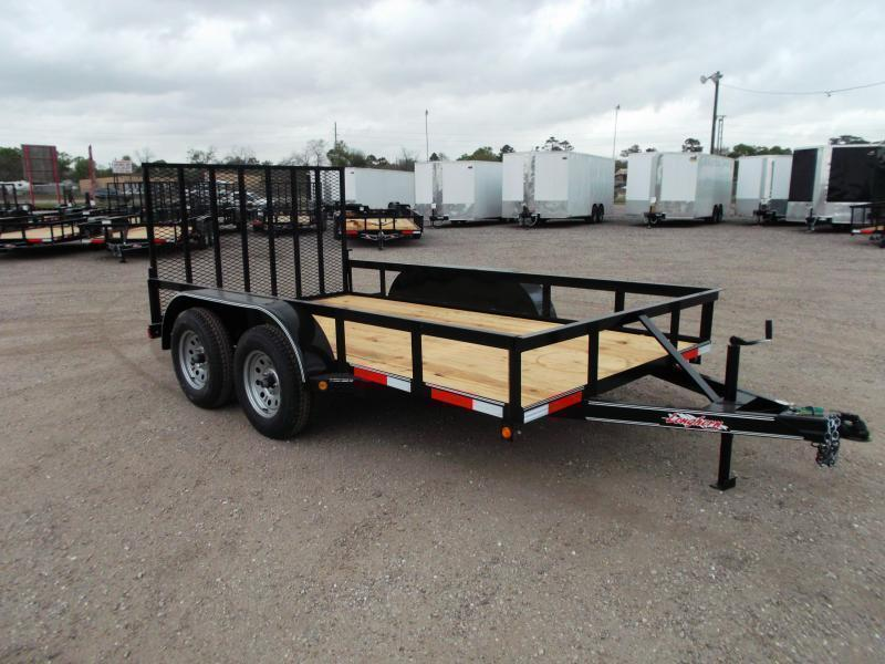 2020 Longhorn Trailers 12ft Tandem Axle Utility Trailer w/ Heavy Duty 4ft Ramp Gate