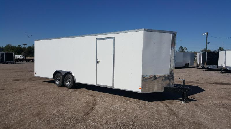 2016 Covered Wagon Cargo 8.5x24 Tandem Axle Cargo / Enclosed Trailer w/ 7ft Interior & 5200# Axles
