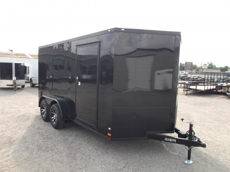 2016 Covered Wagon Trailers 7x14 Tandem Axle Motorcycle / Cargo Trailer w/ Black Out Package & Mags