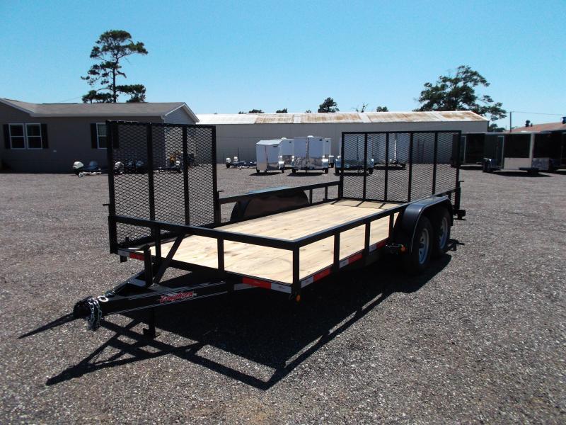 2015 Longhorn Trailers 16ft Utility Trailer w/ Side Load Ramp Gate