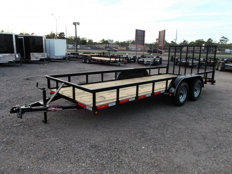 2019 Longhorn Trailers 18ft Utility Trailer w/ 4ft Heavy Duty Ramp