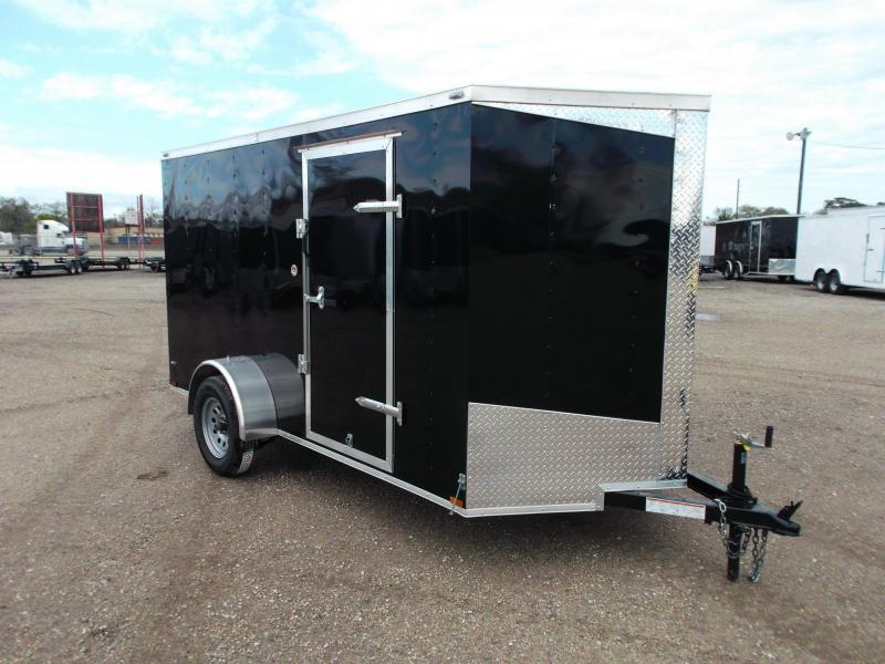 "2018 Lark 6x12 Single Axle Cargo Trailer / Enclosed Trailer w/ Barn Doors / 6'6"" Interior Height"