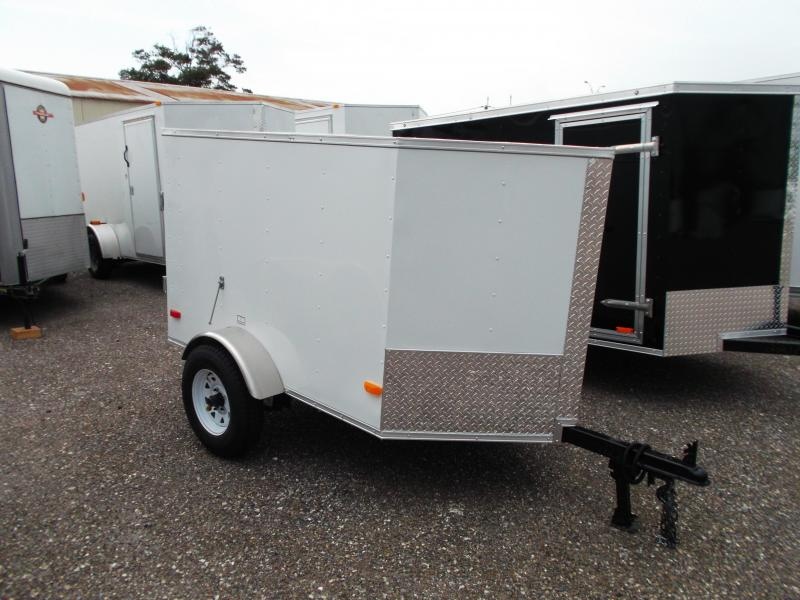 2015 Covered Wagon Trailers 4x6 Single Axle Cargo / Enclosed Trailer