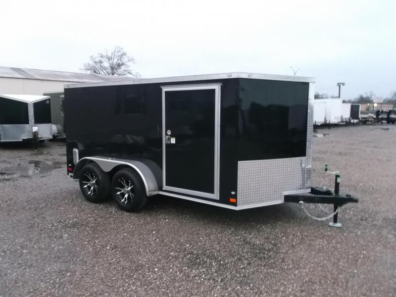 2016 Covered Wagon Trailers 7x12 Tandem Axle Low Profile Motorcycle Trailer w/ V-Nose