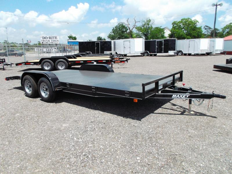 2014 Maxey 83x18 Steel Deck Car / Racing Trailer