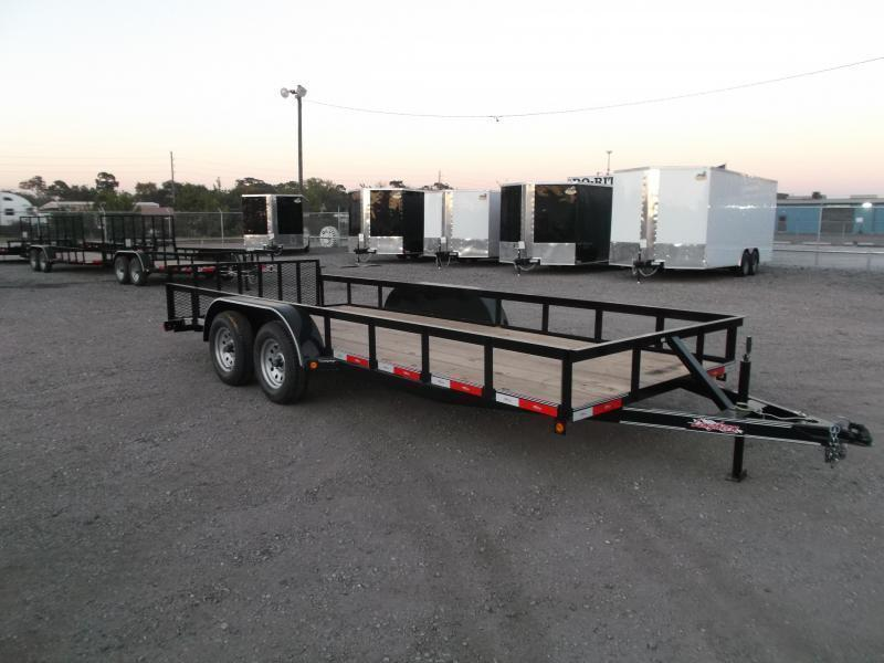 2019 Longhorn Trailers 18ft Utility Trailer / 2ft Dovetail / 2ft Ramp Gate