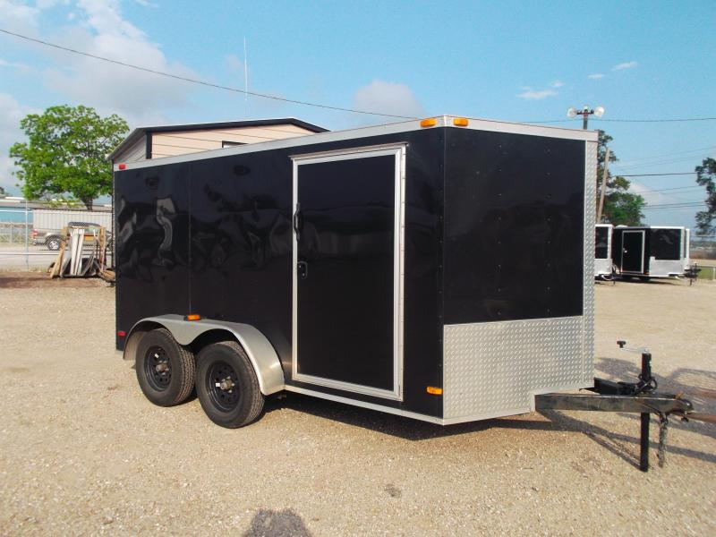 2015 Covered Wagon Trailers 7x12 Semi Low Hauler Motorcycle Trailer
