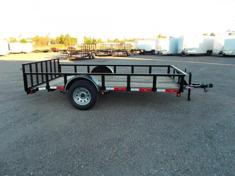 2018 Longhorn Trailers 77x12 Single Axle Utility Trailer / 2ft Dovetail / 2ft Ramp Gate