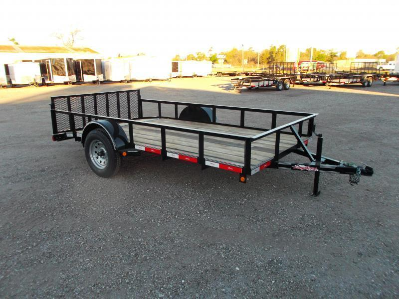 2016 Longhorn Trailers 77x12 Single Axle Utility Trailer w/ 2ft Dovetail & 2ft Ramp Gate