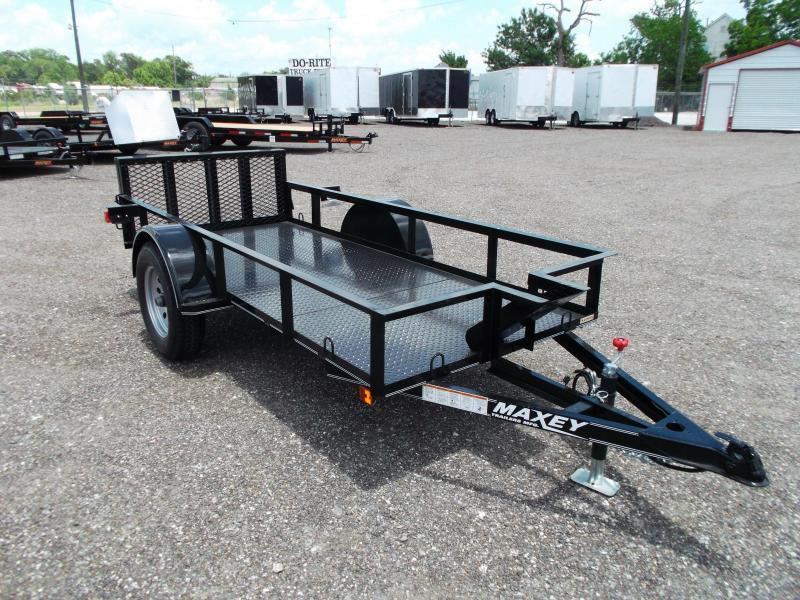 2019 Maxxd 50x10 Motorcycle Trailer / Motorcycle Hauler / Powder Coated / Chock / D-Rings / Steel Deck