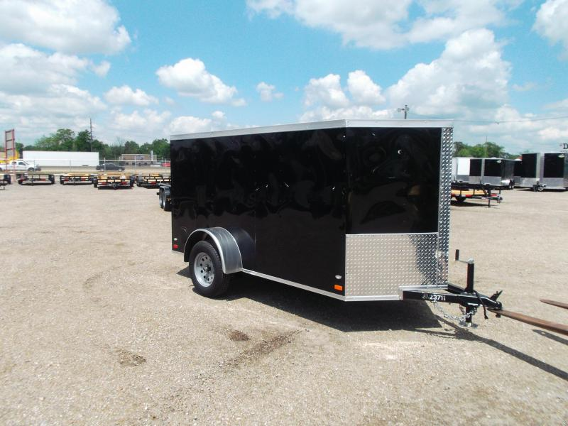 2016 Covered Wagon Trailers 5x10 Single Axle Cargo / Enclosed Trailer w/ Ramp