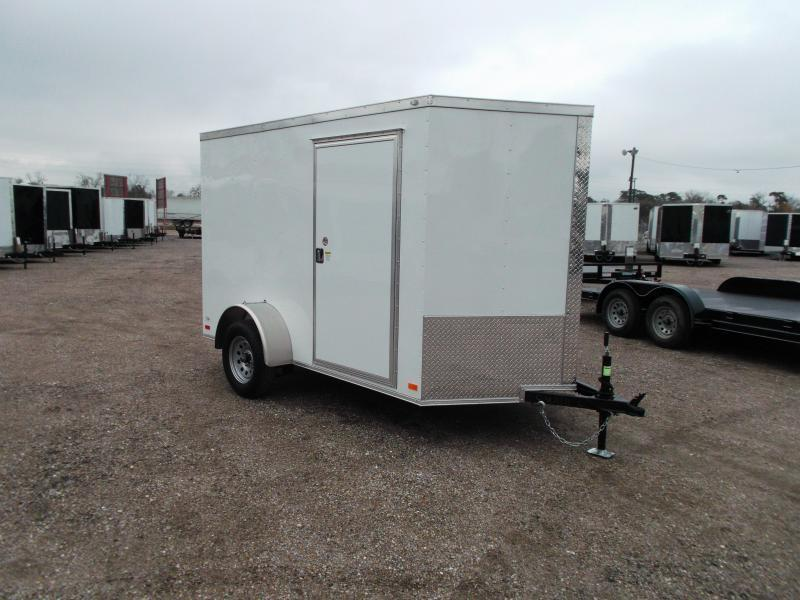2016 Covered Wagon Trailers 6x10 Single Axle Cargo / Enclosed Trailer w/ V-Nose