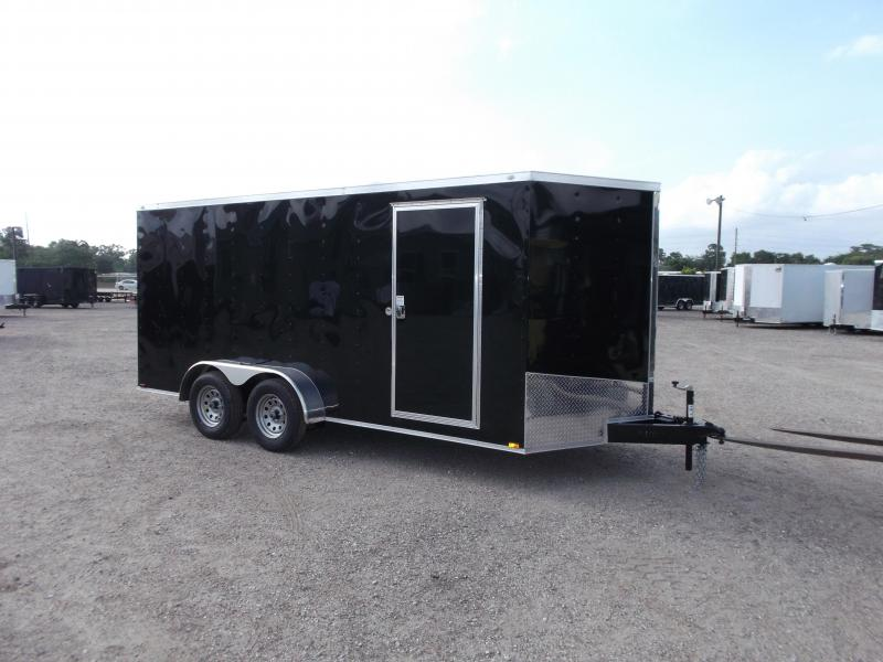 2016 Spartan Cargo Trailers 7x16 Tandem Axle Cargo / Enclosed Trailer w/ Ramp Gate