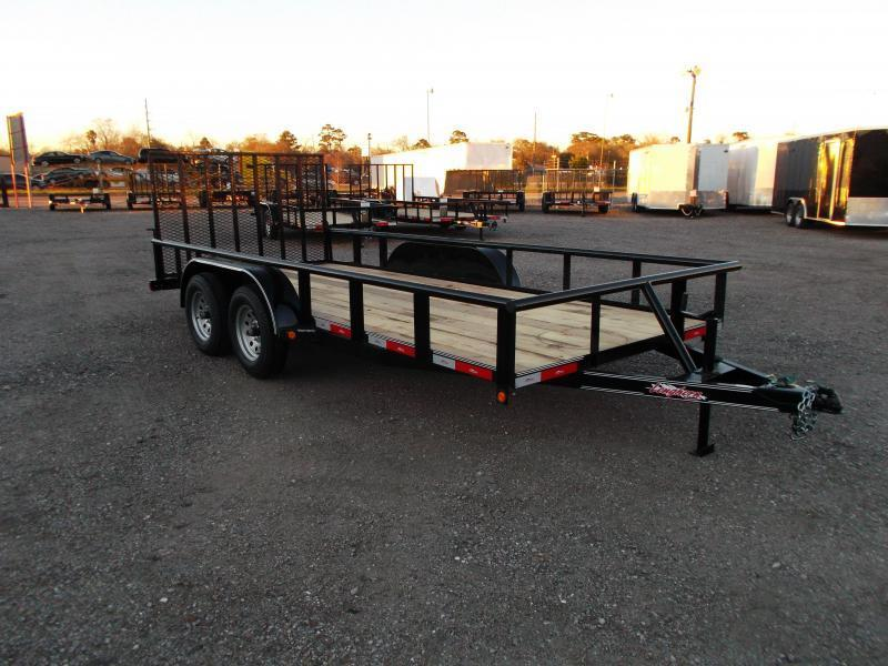 2016 Longhorn Trailers 16ft Utility Trailer w/ Pipetop & 4ft Ramp Gate