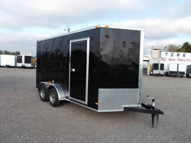 2015 Covered Wagon Trailers 7x14 Tandem Axle Cargo / Enclosed Trailer w/ 7ft Interior
