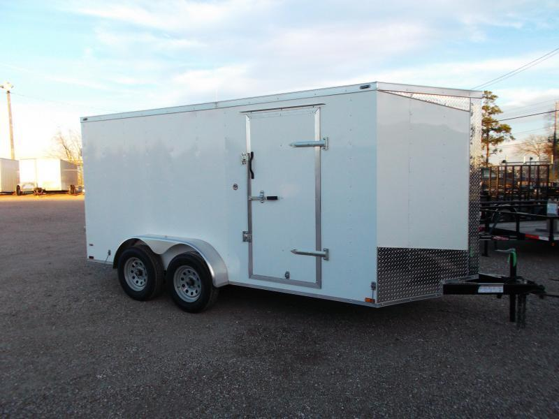 "2018 Lark 7x14 Tandem Axle Cargo Trailer / Enclosed Trailer w/ Barn Doors / 6'6"" Interior Height / LEDs"