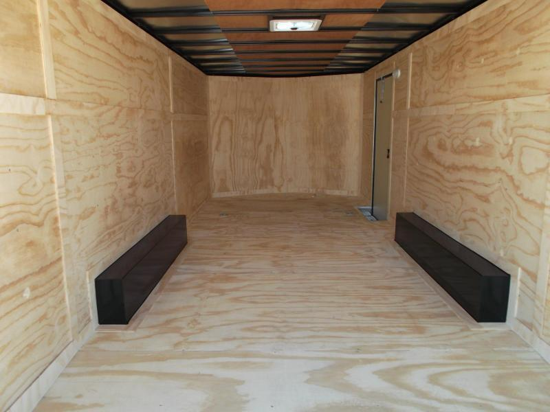 2019 Covered Wagon Trailers 8.5x20 Blacked Out Tandem Axle Cargo / Enclosed Trailer / Car Hauler / 5200# Axles / Ramp / RV Door / LEDs