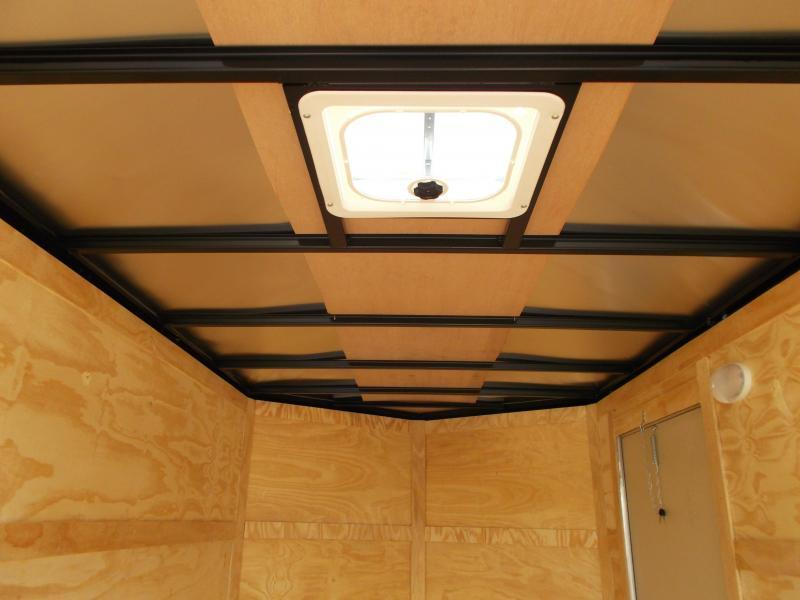 2019 Covered Wagon Trailers 6x12 Tandem Axle Cargo Trailer / Enclosed Trailer / Ramp / RV Door / LEDs