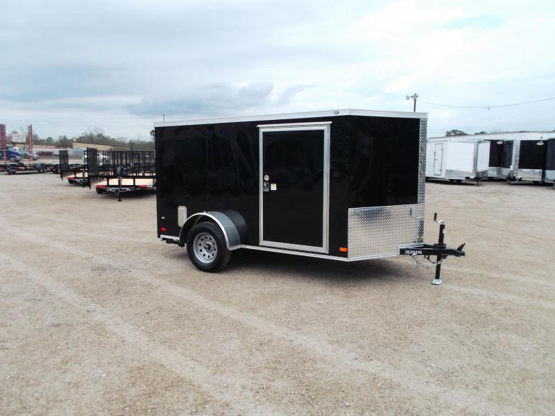 2019 Covered Wagon Trailers 6x10 Low Profile Motorcycle Trailer / Cargo Trailer / Ramp / WHITE Exterior