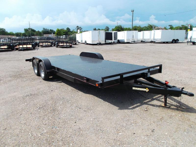 2018 Diamond T 83X18 7K Steel Deck Car Hauler / Racing Trailer / 3500# Axles / Dovetail / LEDs
