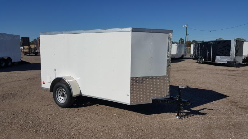 2017 Covered Wagon Trailers 5x10 Single Axle Cargo / Enclosed Trailer w/ Ramp